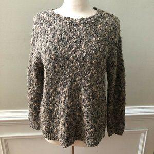 J Jill Wool Blend Hi Lo Chunky Pullover Sweater